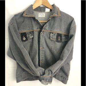 Grey/ jean jacket size large